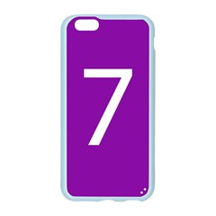 Number 7 Purple Apple Seamless iPhone 6/6S Case (Color)
