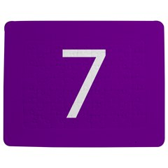 Number 7 Purple Jigsaw Puzzle Photo Stand (Rectangular)