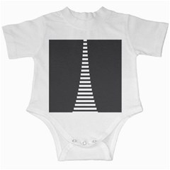 Minimalist Stairs White Grey Infant Creepers