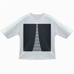 Minimalist Stairs White Grey Infant/Toddler T-Shirts