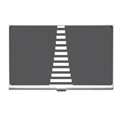 Minimalist Stairs White Grey Business Card Holders