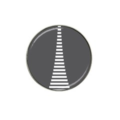 Minimalist Stairs White Grey Hat Clip Ball Marker (10 pack)