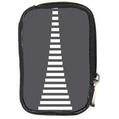 Minimalist Stairs White Grey Compact Camera Cases