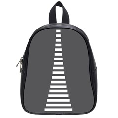 Minimalist Stairs White Grey School Bags (Small)
