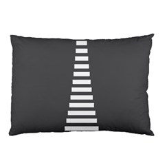 Minimalist Stairs White Grey Pillow Case (Two Sides)