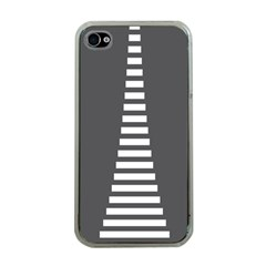 Minimalist Stairs White Grey Apple iPhone 4 Case (Clear)