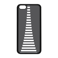 Minimalist Stairs White Grey Apple iPhone 5C Seamless Case (Black)