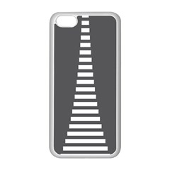 Minimalist Stairs White Grey Apple iPhone 5C Seamless Case (White)