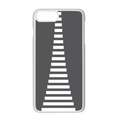 Minimalist Stairs White Grey Apple Iphone 7 Plus White Seamless Case