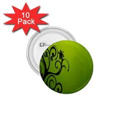 Illustration Wallpaper Barbusak Leaf Green 1.75  Buttons (10 pack)