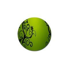 Illustration Wallpaper Barbusak Leaf Green Golf Ball Marker (10 pack)