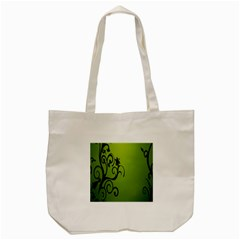 Illustration Wallpaper Barbusak Leaf Green Tote Bag (Cream)
