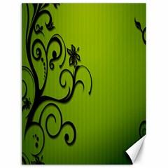 Illustration Wallpaper Barbusak Leaf Green Canvas 12  x 16