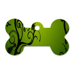 Illustration Wallpaper Barbusak Leaf Green Dog Tag Bone (two Sides)