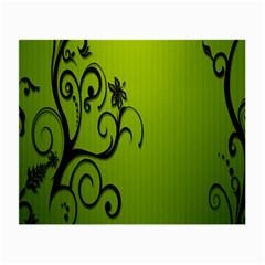 Illustration Wallpaper Barbusak Leaf Green Small Glasses Cloth (2-Side)