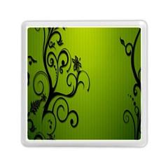 Illustration Wallpaper Barbusak Leaf Green Memory Card Reader (Square)