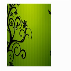 Illustration Wallpaper Barbusak Leaf Green Large Garden Flag (Two Sides)