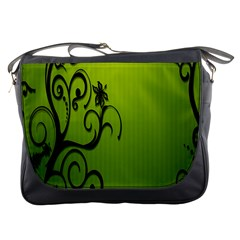 Illustration Wallpaper Barbusak Leaf Green Messenger Bags