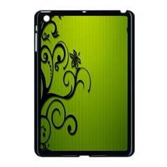 Illustration Wallpaper Barbusak Leaf Green Apple iPad Mini Case (Black)
