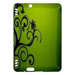 Illustration Wallpaper Barbusak Leaf Green Kindle Fire HDX Hardshell Case