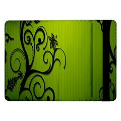Illustration Wallpaper Barbusak Leaf Green Samsung Galaxy Tab Pro 12.2  Flip Case