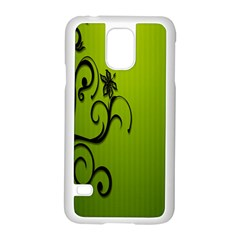 Illustration Wallpaper Barbusak Leaf Green Samsung Galaxy S5 Case (White)