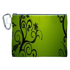 Illustration Wallpaper Barbusak Leaf Green Canvas Cosmetic Bag (XXL)