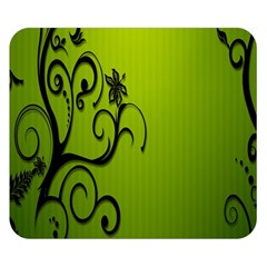 Illustration Wallpaper Barbusak Leaf Green Double Sided Flano Blanket (Small)