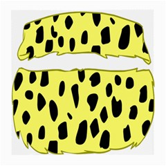 Leopard Polka Dot Yellow Black Medium Glasses Cloth