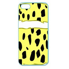 Leopard Polka Dot Yellow Black Apple Seamless iPhone 5 Case (Color)
