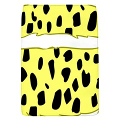 Leopard Polka Dot Yellow Black Flap Covers (S)