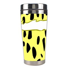 Leopard Polka Dot Yellow Black Stainless Steel Travel Tumblers