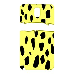 Leopard Polka Dot Yellow Black Samsung Galaxy Note 3 N9005 Hardshell Back Case