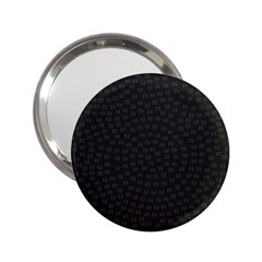 Oklahoma Circle Black Glitter Effect 2.25  Handbag Mirrors