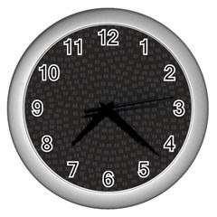 Oklahoma Circle Black Glitter Effect Wall Clocks (Silver)