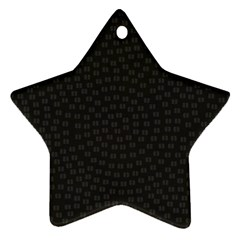 Oklahoma Circle Black Glitter Effect Star Ornament (Two Sides)