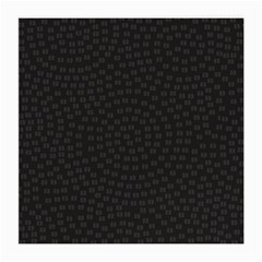 Oklahoma Circle Black Glitter Effect Medium Glasses Cloth (2-Side)