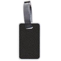 Oklahoma Circle Black Glitter Effect Luggage Tags (One Side)
