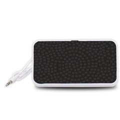 Oklahoma Circle Black Glitter Effect Portable Speaker (White)