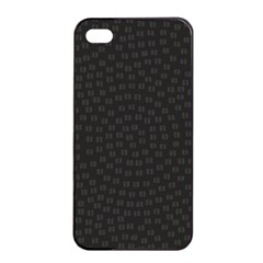 Oklahoma Circle Black Glitter Effect Apple iPhone 4/4s Seamless Case (Black)