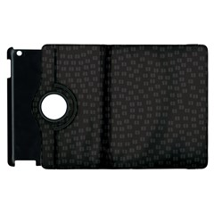 Oklahoma Circle Black Glitter Effect Apple iPad 2 Flip 360 Case