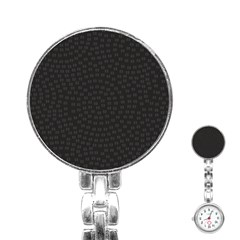 Oklahoma Circle Black Glitter Effect Stainless Steel Nurses Watch