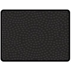 Oklahoma Circle Black Glitter Effect Double Sided Fleece Blanket (Large)