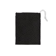 Oklahoma Circle Black Glitter Effect Drawstring Pouches (Small)