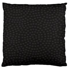 Oklahoma Circle Black Glitter Effect Standard Flano Cushion Case (Two Sides)