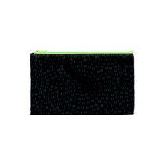 Oklahoma Circle Black Glitter Effect Cosmetic Bag (XS)