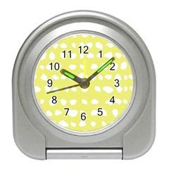 Polkadot White Yellow Travel Alarm Clocks