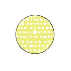 Polkadot White Yellow Hat Clip Ball Marker (10 pack)