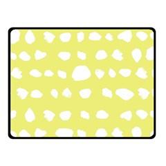 Polkadot White Yellow Fleece Blanket (Small)
