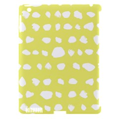 Polkadot White Yellow Apple Ipad 3/4 Hardshell Case (compatible With Smart Cover)